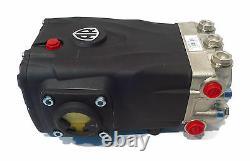 PRESSURE WASHER PUMP replaces Interpump WS202 3600 PSI, 5.5 GPM Solid Shaft