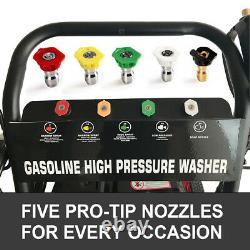 Pressure Washer 4800PSI 7HP Gas with Power Spray Gun 4-Stroke 5 Nozzles