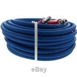Pressure Washer Parts Hose 6000 PSI 100 FT 2 Wire Braid Blue Non-Marking