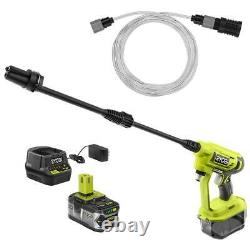 RYOBI RY120352K ONE+ 18-Volt 320 PSI 0.8 GPM Cold Water Cordless Power Cleaner