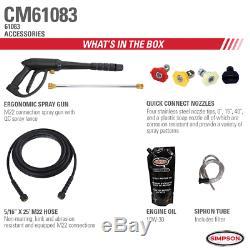 Simpson Clean Machine CM61083 3400 PSI (Gas-Cold Water) Pressure Washer