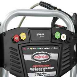 Simpson PowerShot 3,300 PSI 2.5 GPM Gas Pressure Washer with Kohler Engine