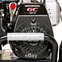 Simpson Pressure Washer 3200 PSI 2.5 GPM HONDA GC190 Cold Water Maintenance-Free
