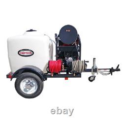 Simpson Professional 4000 PSI (Gas-Hot Water) Pressure Washer Trailer with Hond