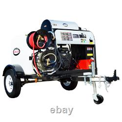 Simpson Professional 4000 PSI (Gas-Hot Water) Pressure Washer Trailer with Vang