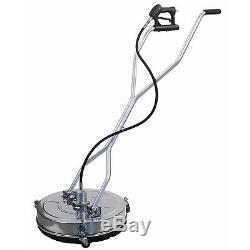 Stainless Steel Flat 24 Pressure Power Washer Surface Cleaner 4000 PSI 8GPM