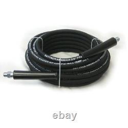 Suttner B3V00380 100' Black 4000 PSI 3/8 Pressure Washer Hose MNPT x M Swivel