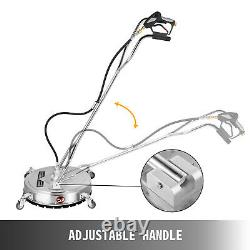 VEVOR Flat Surface Cleaner 24 Stainless Steel 4000PSI Pressure Washer with Wheels