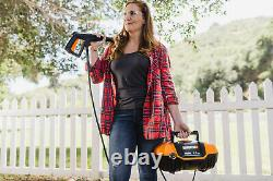 WORX WG601 1500 Max PSI 1.1 GPM 13A Electric Pressure Washer, Black and Orange