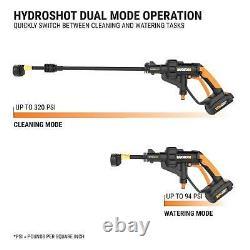 WORX WG629.1 Hydroshot 20V PowerShare 2.0 Ah 320 PSI Cordless Portable Power