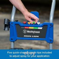 WPX 3200 PSI 2.5 GPM Gas Powered Axial Cam Pump Pressure Washer with Quick Tips